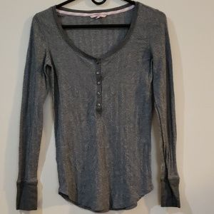 Victoria's Secret Henley Long Sleeve Top S